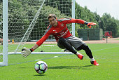 Emi Martinez of Arsenal during a 1st team training session at London Colney on July 23 2016 in St Albans England