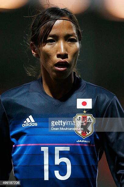 Emi Nakajima of Japan looks on during the International Friendly match between Netherlands and Japan held at Kras Stadion on November 29 2015 in...