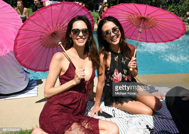Emi Renata and actor Angela Zhou at the Red Bull Summer Edition Launch Party on June 17 2017 in Beverly Hills California