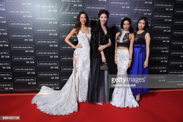 Emi Renata Bonnie Chen Clara Lee Grace Chan and Manami Hashimoto attend Intimissimi On ice 2017 on October 6 2017 in Verona Italy