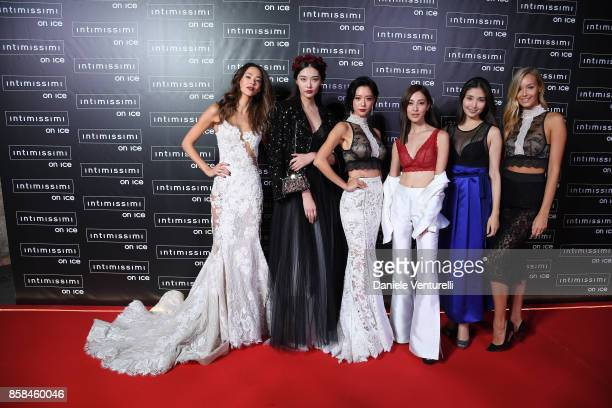 Emi Renata Bonnie Chen Clara Lee Grace Chan Manami Hashimoto and Viktoria Varga attend Intimissimi On ice 2017 on October 6 2017 in Verona Italy
