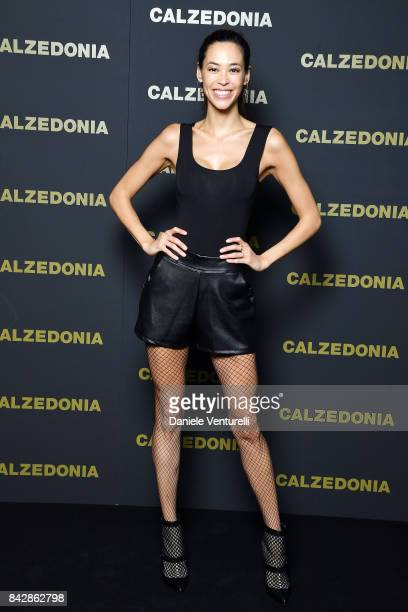 Emi Renata Sakamoto attends Calzedonia Legs Show on September 5 2017 in Verona Italy