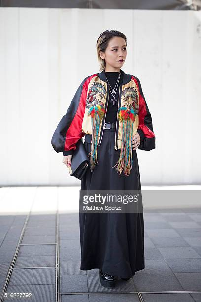 Emi Tiger attends the INPROCESS show during Tokyo Fashion Weekon March 17 2016 in Tokyo Japan