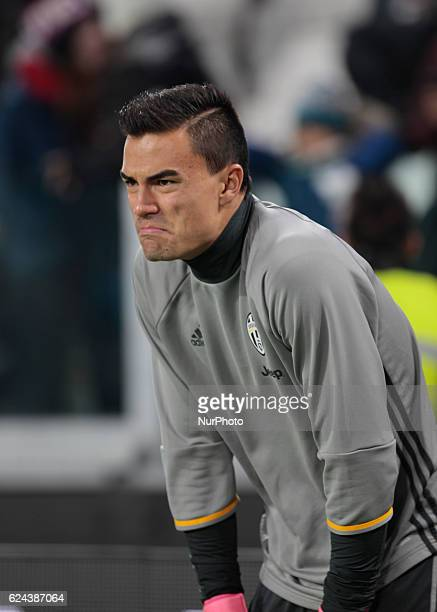 Emil Audero warm up before the Serie A match between Juventus v Pescara in Turin on november 19 2016