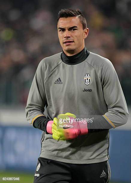Emil Audero warm up before theSerie A match between Juventus v Pescara in Turin on november 19 2016