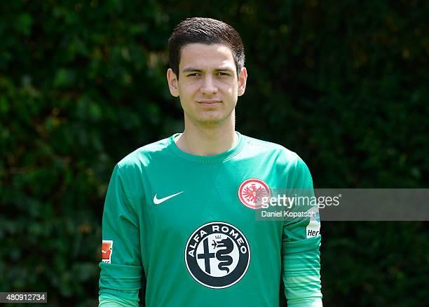 Emil Balayev poses during the Eintracht Frankfurt team presentation on July 15 2015 in Frankfurt am Main Germany