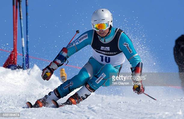 Emil Bjoertomt Kristiansen Norway in action during the Men's Giant Slalom competition at Coronet Peak New Zealand during the Winter Games Queenstown...