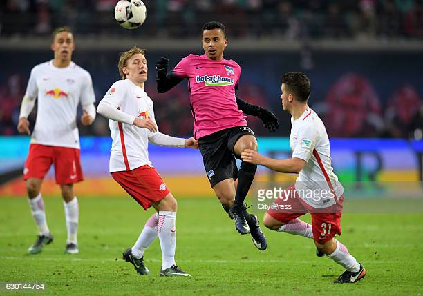 Emil Forsberg Allan of Hertha BSC and Diego Demme of RB Leipzig during the game between RB Leipzig and Hertha BSC on december 17 2016 in Leipzig...