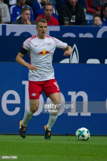 Emil Forsberg of Leipzig controls the ball during the Bundesliga match between FC Schalke 04 and RB Leipzig at VeltinsArena on August 19 2017 in...