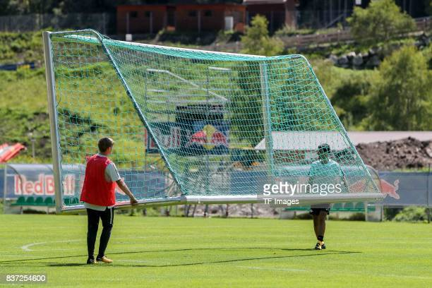 Emil Forsberg of RB Leipzig and Elias Abouchabaka of RB Leipzig during the Training Camp of RB Leipzig on July 21 2017 in Seefeld Austria