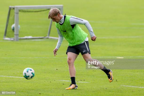 Emil Forsberg of RB Leipzig controls the ball during the Training Camp of RB Leipzig on July 20 2017 in Seefeld Austria