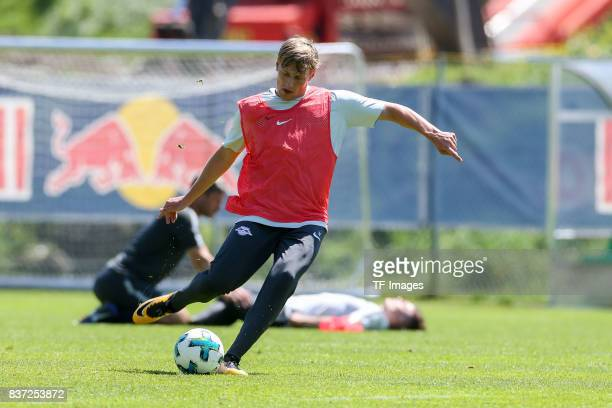 Emil Forsberg of RB Leipzig controls the ball during the Training Camp of RB Leipzig on July 21 2017 in Seefeld Austria
