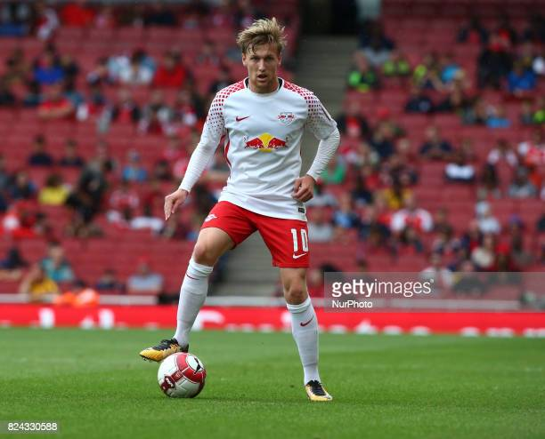 Emil Forsberg of RB Leipzig during Emirates Cup match between RB Leipzig against Sevilla at Emirates Stadium on 29 July 2017