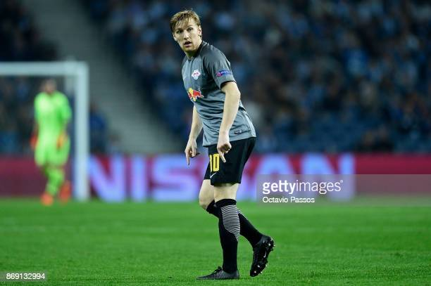 Emil Forsberg of RB Leipzig in action during the UEFA Champions League group G match between FC Porto and RB Leipzig at Estadio do Dragao on November...