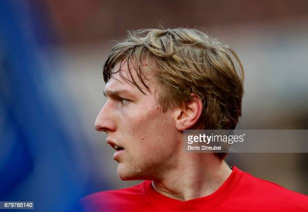 Emil Forsberg of RB Leipzig looks on during the Bundesliga match between Hertha BSC and RB Leipzig at Olympiastadion on May 6 2017 in Berlin Germany