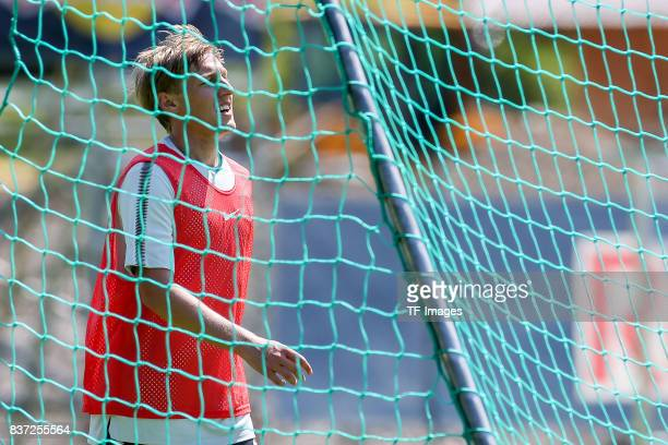 Emil Forsberg of RB Leipzig looks on during the Training Camp of RB Leipzig on July 21 2017 in Seefeld Austria