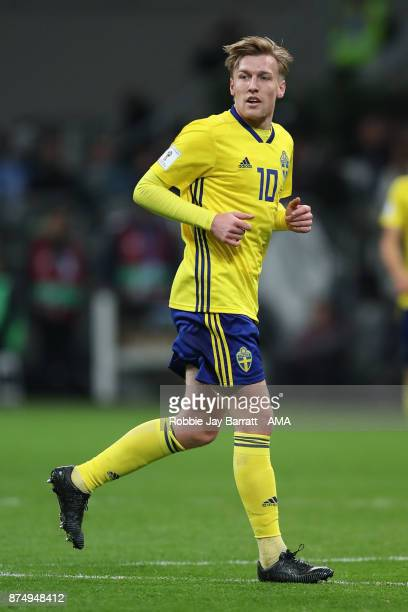Emil Forsberg of Sweden during the FIFA 2018 World Cup Qualifier PlayOff Second Leg between Italy and Sweden at San Siro Stadium on November 13 2017...