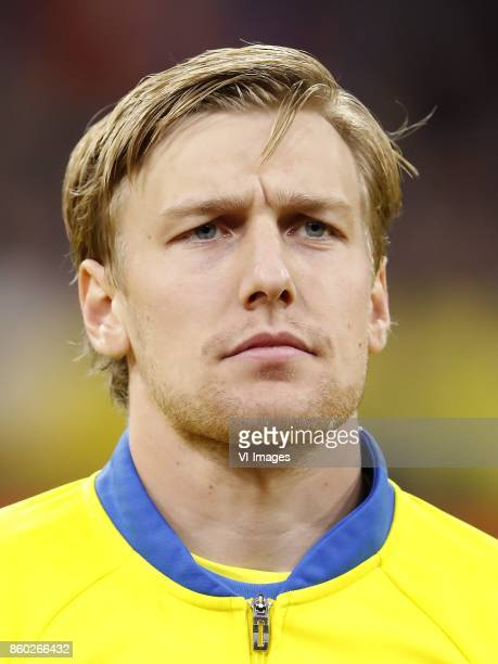Emil Forsberg of Sweden during the FIFA World Cup 2018 qualifying match between The Netherlands and Sweden at the Amsterdam Arena on October 10 2017...
