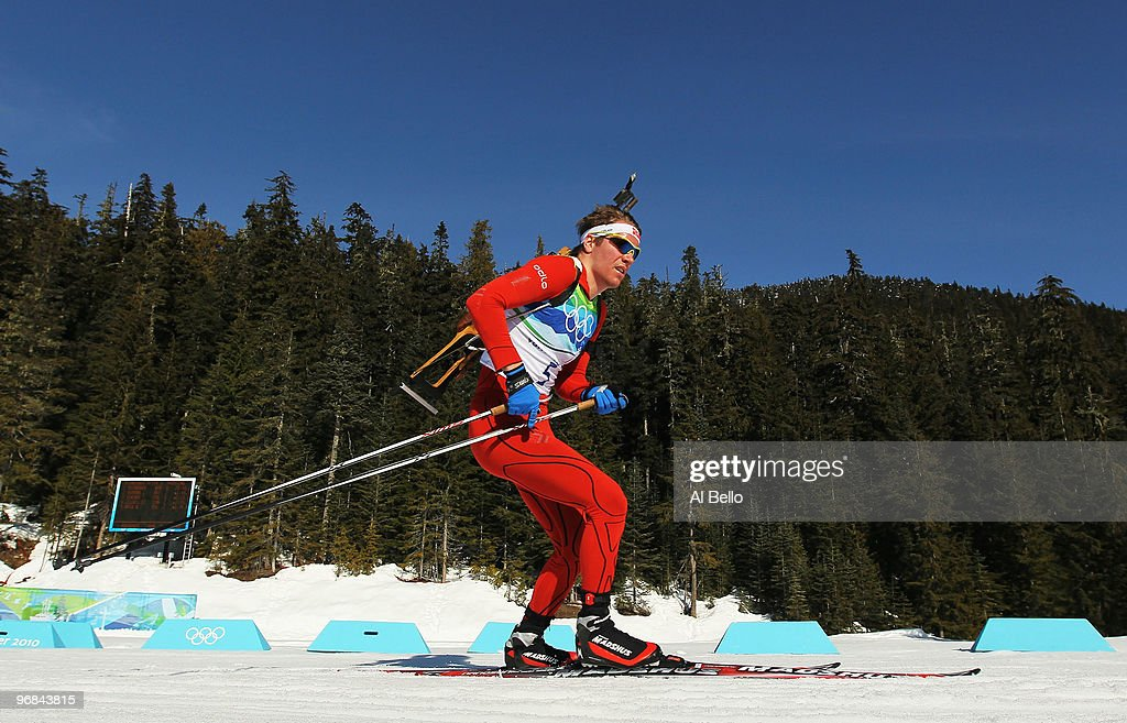 <a gi-track='captionPersonalityLinkClicked' href=/galleries/search?phrase=Emil+Hegle+Svendsen&family=editorial&specificpeople=831528 ng-click='$event.stopPropagation()'>Emil Hegle Svendsen</a> of Norway competes during the Biathlon Men's 20 km individual on day 7 of the 2010 Vancouver Winter Olympics at Whistler Olympic Park Biathlon Stadium on February 18, 2010 in Whistler, Canada.