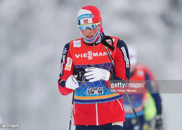 Emil Iversen of Norway during the cross country training ahead of the FIS World Cup Ruka Nordic season opening at Ruka Stadium on November 23 2017 in...