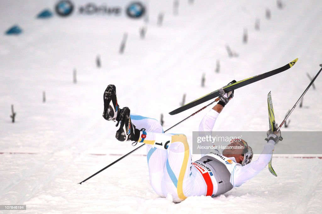 <a gi-track='captionPersonalityLinkClicked' href=/galleries/search?phrase=Emil+Joensson&family=editorial&specificpeople=4045550 ng-click='$event.stopPropagation()'>Emil Joensson</a> of Sweden celebrates winning the men's classic sprint event for the FIS Cross Country World Cup Tour de Ski on January 2, 2011 in Oberstdorf, Germany.