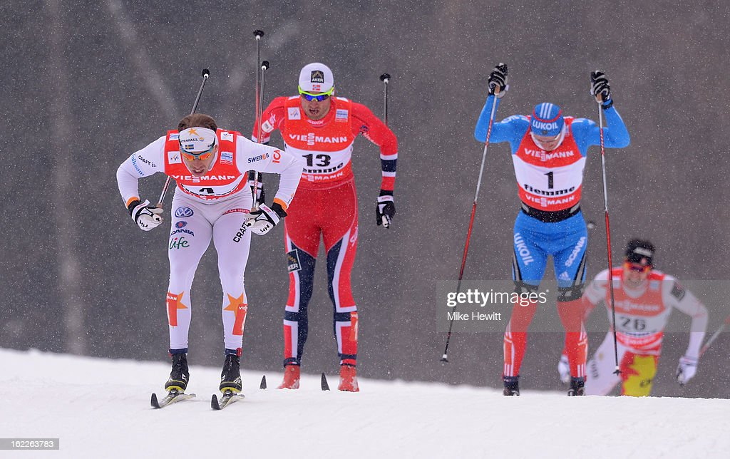 <a gi-track='captionPersonalityLinkClicked' href=/galleries/search?phrase=Emil+Joensson&family=editorial&specificpeople=4045550 ng-click='$event.stopPropagation()'>Emil Joensson</a> of Sweden competes during the Men's Cross Country 1.5km Classic Sprint Final at the FIS Nordic World Ski Championships on February 21, 2013 in Val di Fiemme, Italy.