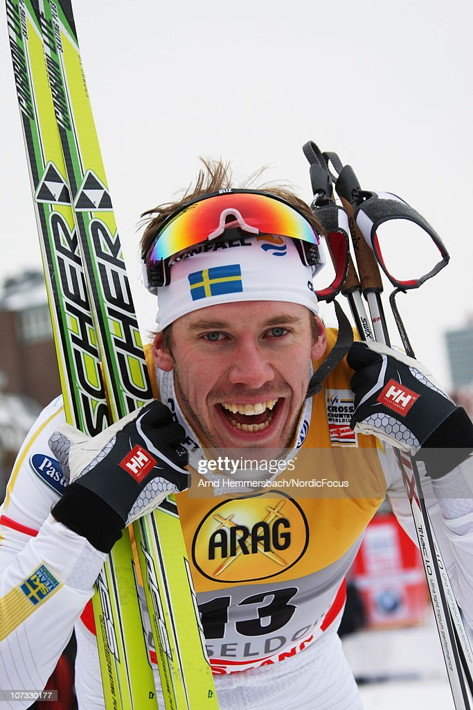<a gi-track='captionPersonalityLinkClicked' href=/galleries/search?phrase=Emil+Joensson&family=editorial&specificpeople=4045550 ng-click='$event.stopPropagation()'>Emil Joensson</a> of Sweden reacts during the Men's Sprint qualification/final in the FIS Cross Country World Cup on December 4, 2010 in Duesseldorf, Germany.