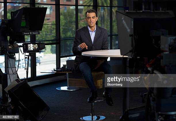 Emil Michael senior vice president of business for Uber Technologies Inc speaks during a Bloomberg Television interview in San Francisco California...
