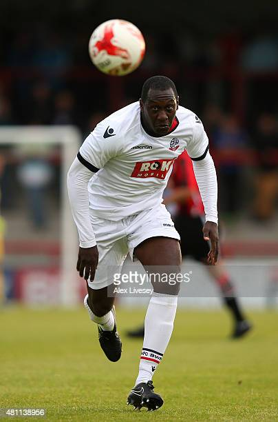 Emile Heskey of Bolton Wanderers during a Pre Season Friendly match between Morecambe and Bolton Wanderers at Globe Arena on July 17 2015 in...