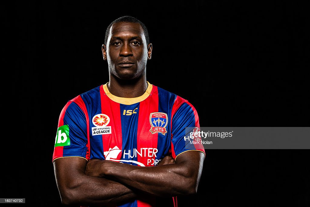Emile Heskey of Newcastle Jets poses during the 2013/14 ALeague Season Launch at Allianz Stadium on October 8 2013 in Sydney Australia