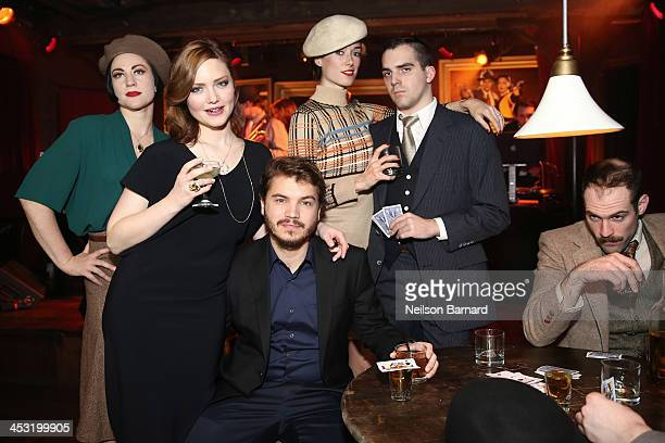 Emile Hirsch and Holliday Grainger attend the 'Bonnie And Clyde' miniseries premiere at Heath at the McKittrick Hotel on December 2 2013 in New York...