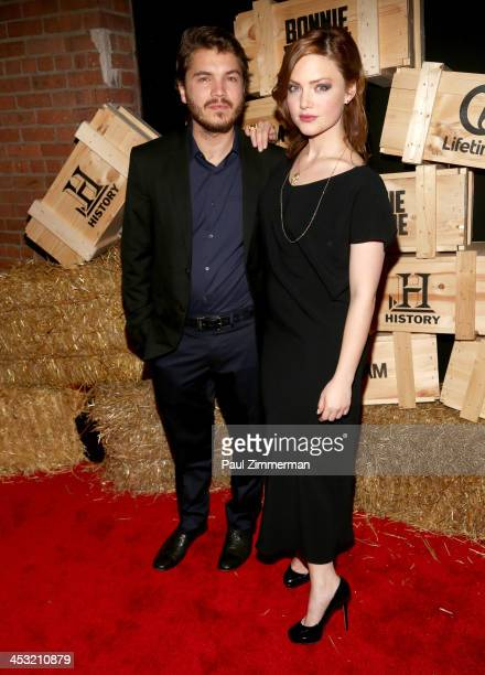Emile Hirsch and Holliday Grainger attend the 'Bonnie And Clyde' series premiere at The McKittrick Hotel on December 2 2013 in New York City