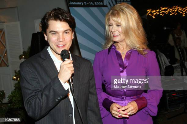 Emile Hirsch and Mary Hart attend the launch party for the Palm Springs International Film Festival at a private residence on October 4 2007 in...