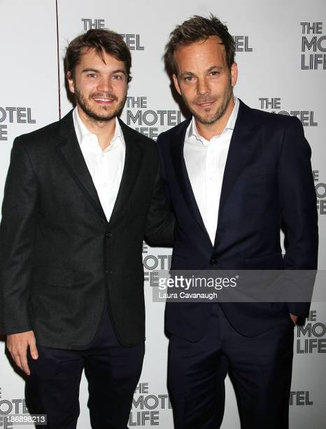 Emile Hirsch and Stephen Dorff attend 'The Motel Life' premiere at Sunshine Landmark on November 4 2013 in New York City