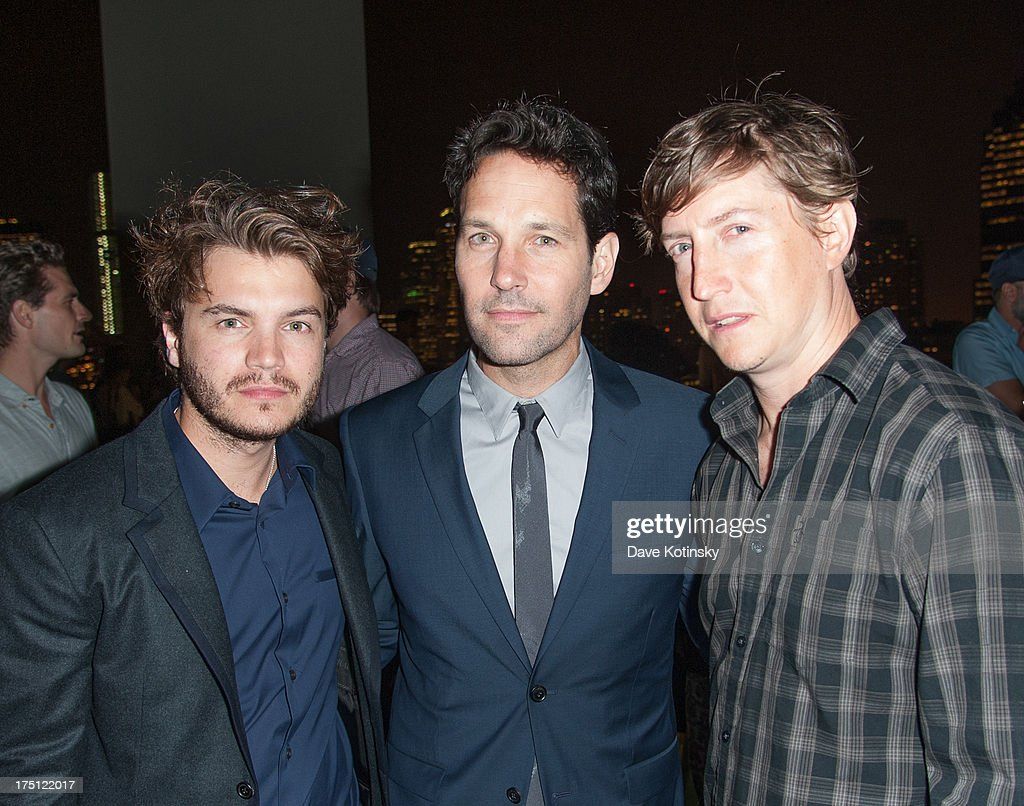 Emile Hirsch David Gordon Green Paul Rudd attend The Cinema Society And Gents Host A Screening Of Magnolia Pictures' 'Prince Avalanche' After Party...