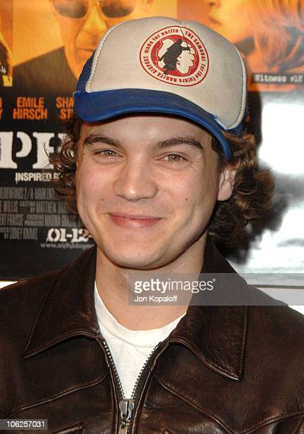 Emile Hirsch during 'Alpha Dog' Los Angeles Premiere Arrivals at ArcLight Cinemas in Hollywood California United States