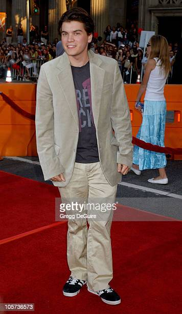 Emile Hirsch during 'War of the Worlds' Los Angeles Fan Screening Arrivals in Los Angeles California United States