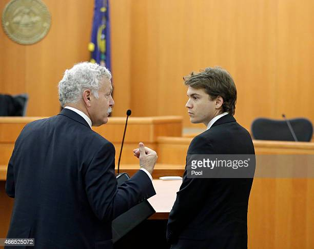 Emile Hirsch is seen during a court appearance at 3rd Judicial District Court March 16 2015 in Park City Utah Hirsch is facing charges of aggravated...