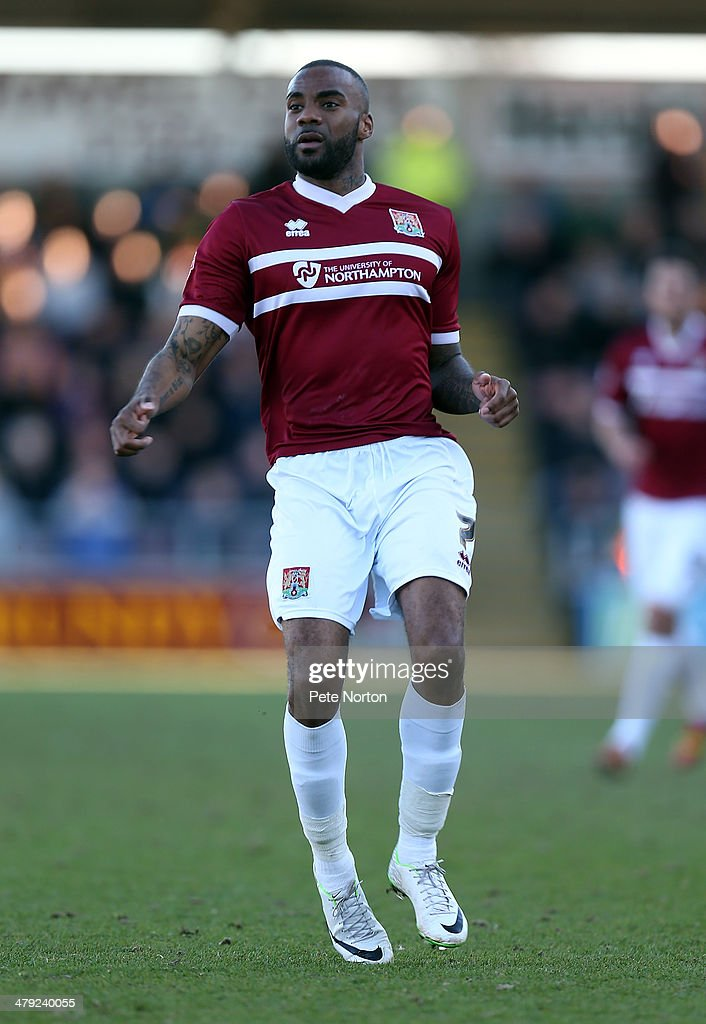 Emile Sinclair of Northampton Town in action during the Sky Bet League Two match between Northampton Town and Mansfield Town at Sixfields on March 15, 2014 in Northampton, England.