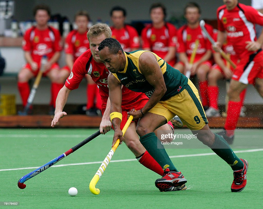 Emile Smith of South Africa during the Five Nations Mens Hockey tournament match between South Africa and Germany held at the North West University hockey centre on January 23, 2008 in Potchefstroom, South Africa.