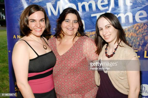 Emileena Pedigo Diana Prince and Alyssa Renzi attend Opening of A Moment in Time by Stewart F Lane at Performing Arts Center on June 25 2010 in Dix...