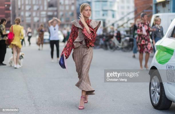 Emili Sindlev outside Stine Goya on August 09 2017 in Copenhagen Denmark