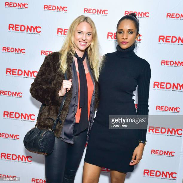 Emilia Bjork and Nadia French attend REDInNYC Nadlan City NY AmericanIsrael Real Estate Week at Sixty Soho Hotel on June 6 2017 in New York City