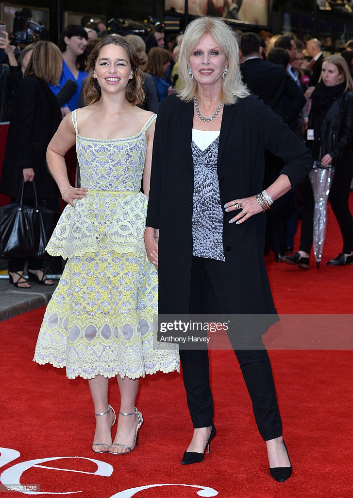 <a gi-track='captionPersonalityLinkClicked' href=/galleries/search?phrase=Emilia+Clarke&family=editorial&specificpeople=7426687 ng-click='$event.stopPropagation()'>Emilia Clarke</a> and <a gi-track='captionPersonalityLinkClicked' href=/galleries/search?phrase=Joanna+Lumley&family=editorial&specificpeople=206307 ng-click='$event.stopPropagation()'>Joanna Lumley</a> attend the European film premiere 'Me Before You' at The Curzon Mayfair on May 25, 2016 in London, England.