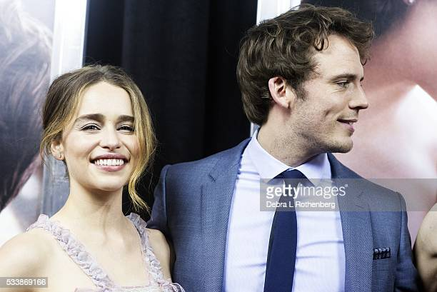 Emilia Clarke and Sam Claflin attend the World Premiere of 'Me Before You' at AMC Loews Lincoln Square 13 theater on May 23 2016 in New York City