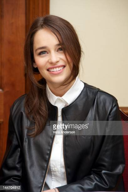 Emilia Clarke at the 'Game Of Thrones' Press Conference at The Grosvenor House Hotel on May 14 2012 in London England