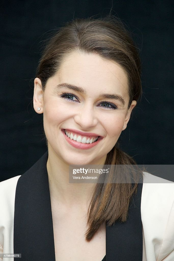 Emilia Clarke at the 'Game Of Thrones' Press Conference at The London Hotel on March 19 2014 in New York City