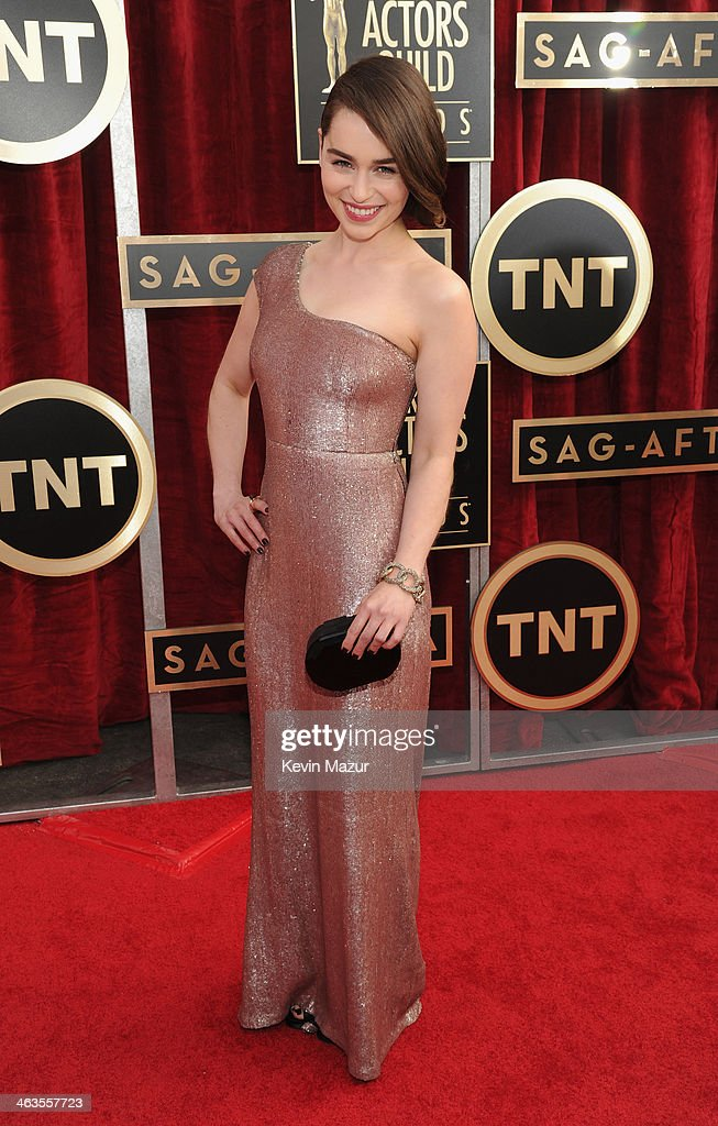Emilia Clarke attends 20th Annual Screen Actors Guild Awards at The Shrine Auditorium on January 17, 2014 in Hollywood, California.