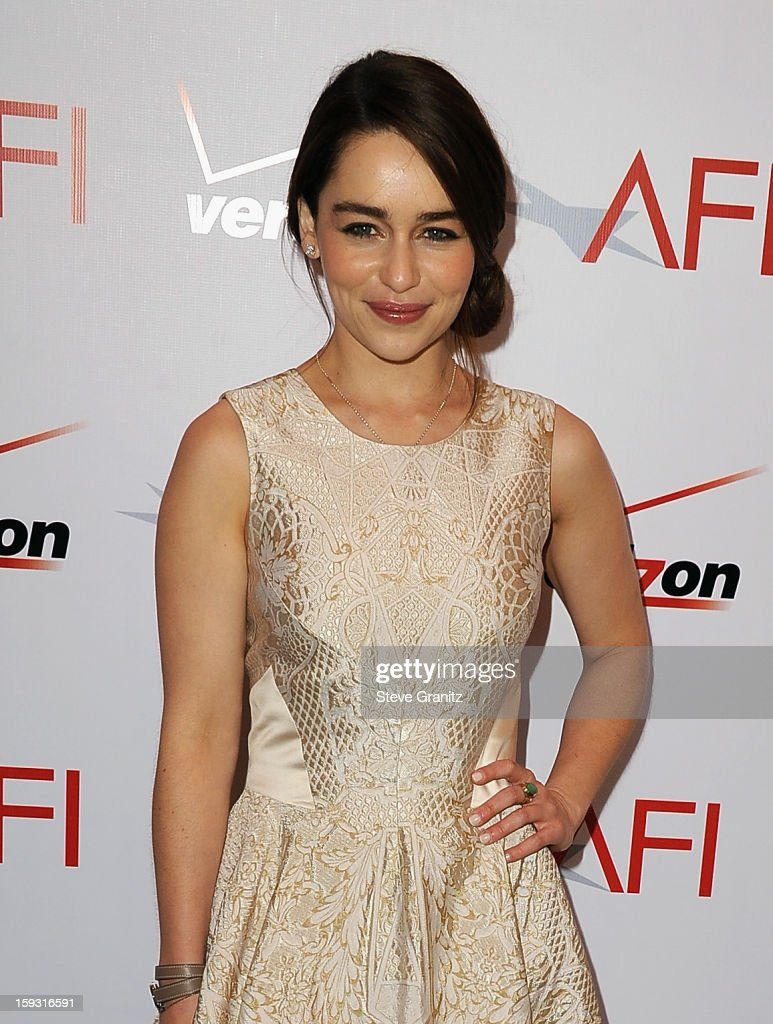 Emilia Clarke attends the 13th Annual AFI Awards Luncheon at the Four Seasons Hotel Los Angeles at Beverly Hills on January 11, 2013 in Beverly Hills, California.