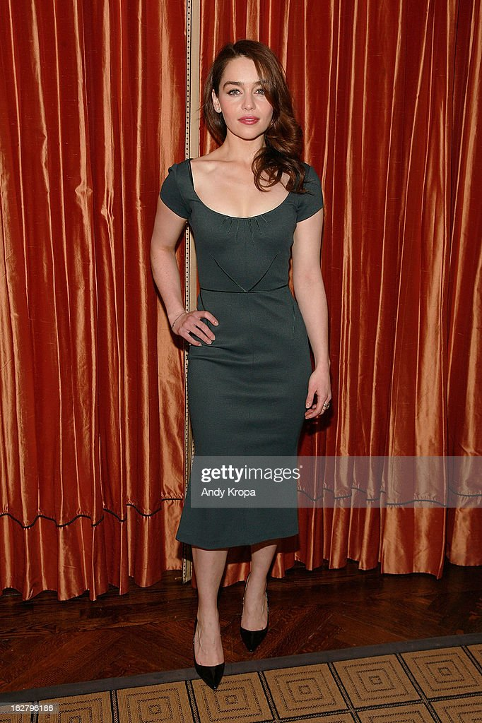Emilia Clarke attends the 'Breakfast At Tiffany's' Press Preview at Cafe Carlyle on February 27, 2013 in New York City.